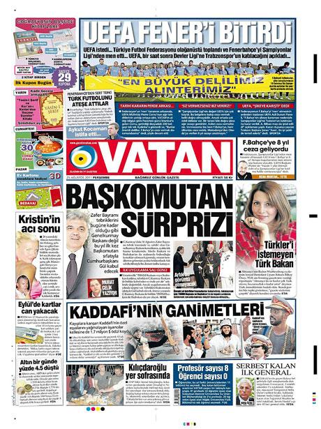 Günün önemli gazete manşetleri (25.08.11) galerisi resim 20