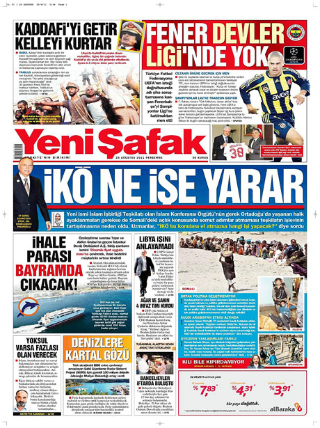 Günün önemli gazete manşetleri (25.08.11) galerisi resim 23