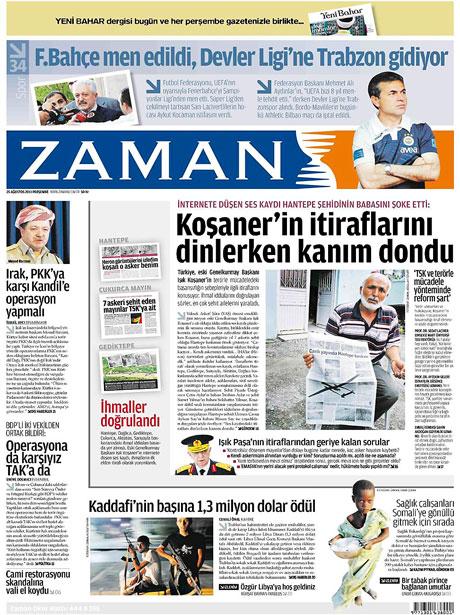 Günün önemli gazete manşetleri (25.08.11) galerisi resim 24