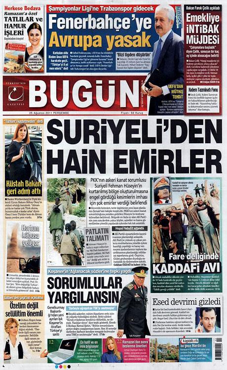 Günün önemli gazete manşetleri (25.08.11) galerisi resim 4