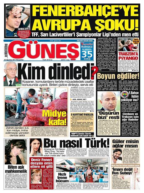 Günün önemli gazete manşetleri (25.08.11) galerisi resim 6