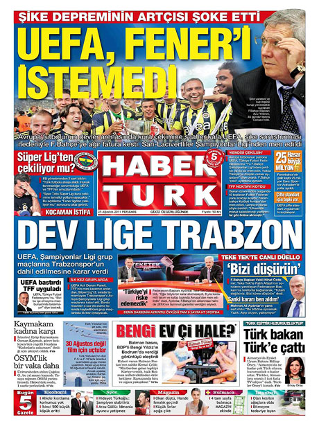 Günün önemli gazete manşetleri (25.08.11) galerisi resim 7