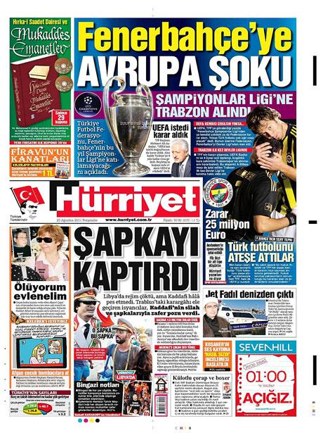 Günün önemli gazete manşetleri (25.08.11) galerisi resim 8