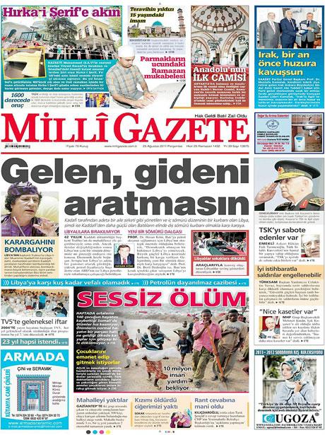 Günün önemli gazete manşetleri (25.08.11) galerisi resim 9