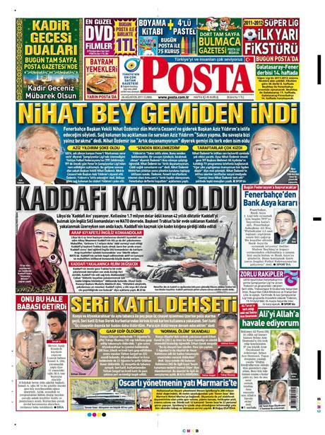 Günün önemli gazete manşetleri (26.08.11) galerisi resim 12