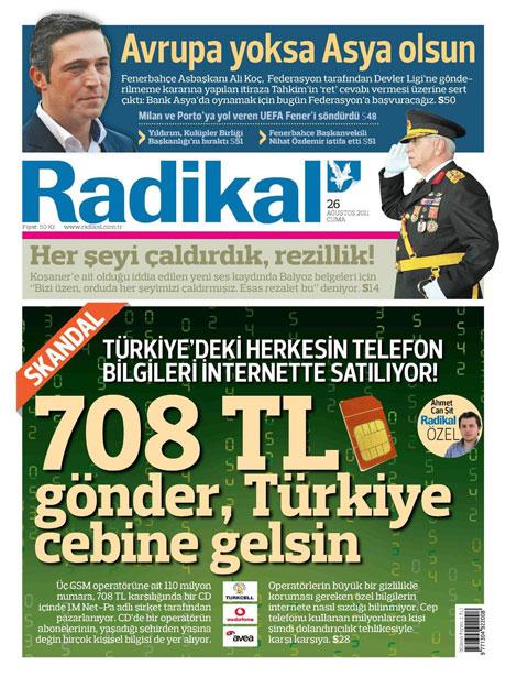 Günün önemli gazete manşetleri (26.08.11) galerisi resim 13