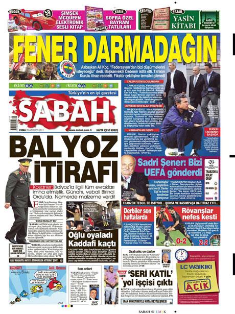 Günün önemli gazete manşetleri (26.08.11) galerisi resim 14