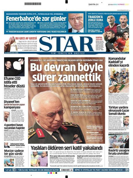 Günün önemli gazete manşetleri (26.08.11) galerisi resim 15
