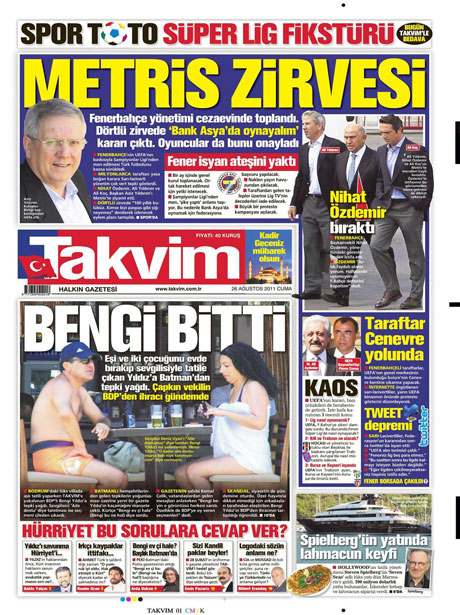 Günün önemli gazete manşetleri (26.08.11) galerisi resim 16