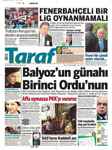 Günün önemli gazete manşetleri (26.08.11) galerisi resim 17