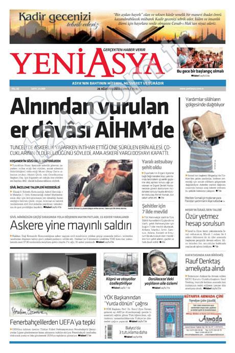 Günün önemli gazete manşetleri (26.08.11) galerisi resim 20