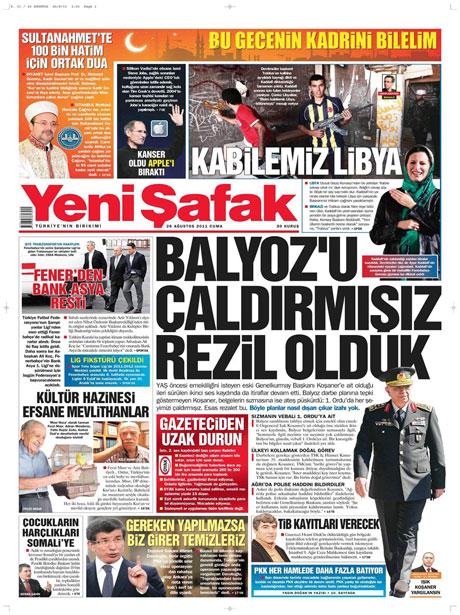 Günün önemli gazete manşetleri (26.08.11) galerisi resim 22