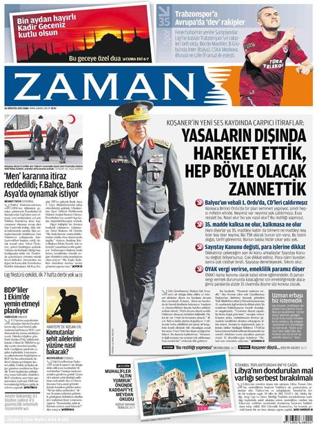 Günün önemli gazete manşetleri (26.08.11) galerisi resim 23