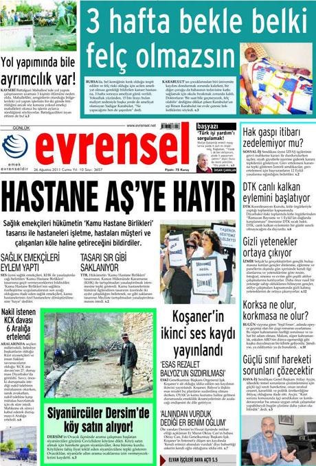 Günün önemli gazete manşetleri (26.08.11) galerisi resim 25