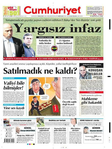 Günün önemli gazete manşetleri (26.08.11) galerisi resim 5