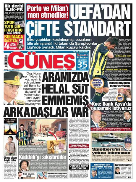 Günün önemli gazete manşetleri (26.08.11) galerisi resim 6