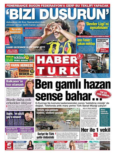 Günün önemli gazete manşetleri (26.08.11) galerisi resim 7
