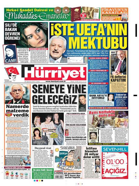 Günün önemli gazete manşetleri (26.08.11) galerisi resim 8