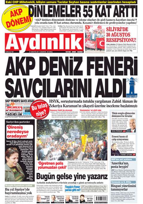 Günün önemli gazete manşetleri (27.08.11) galerisi resim 1