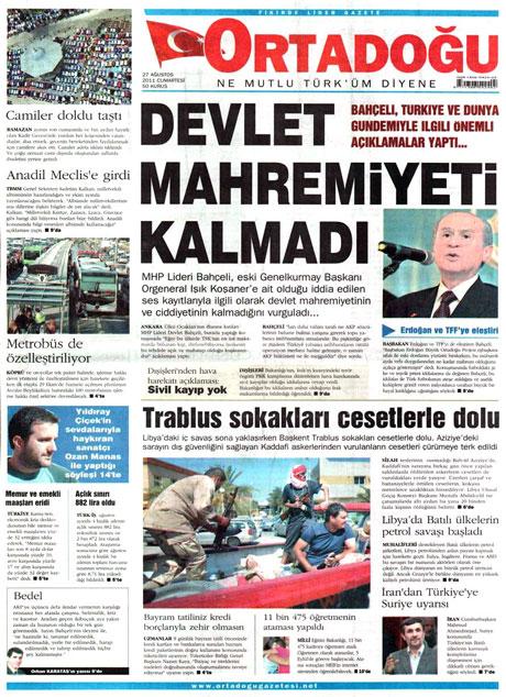 Günün önemli gazete manşetleri (27.08.11) galerisi resim 11