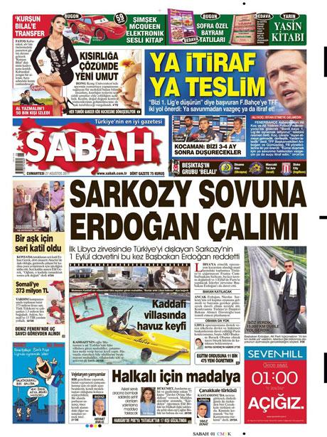 Günün önemli gazete manşetleri (27.08.11) galerisi resim 14