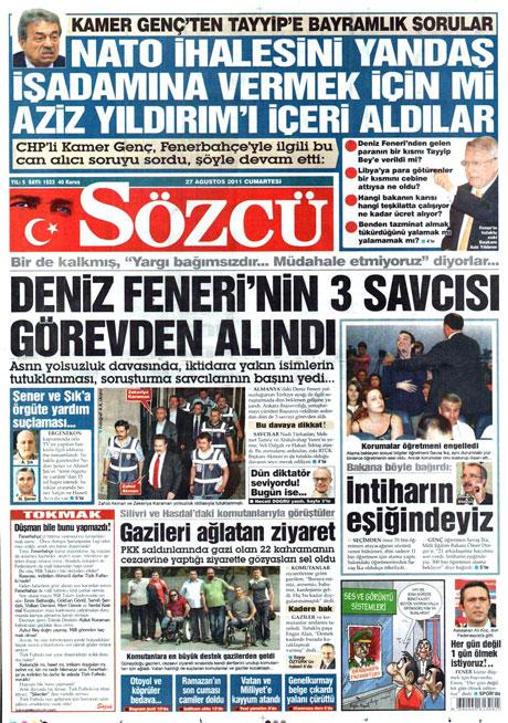 Günün önemli gazete manşetleri (27.08.11) galerisi resim 15