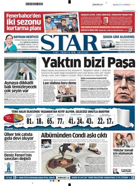 Günün önemli gazete manşetleri (27.08.11) galerisi resim 16