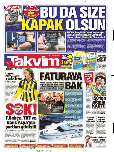 Günün önemli gazete manşetleri (27.08.11) galerisi resim 17
