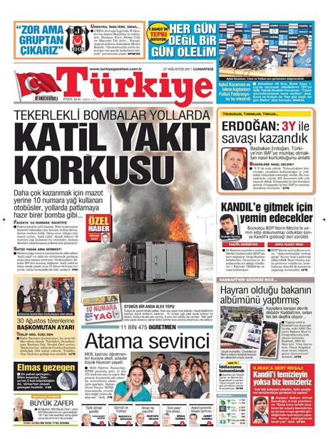 Günün önemli gazete manşetleri (27.08.11) galerisi resim 19