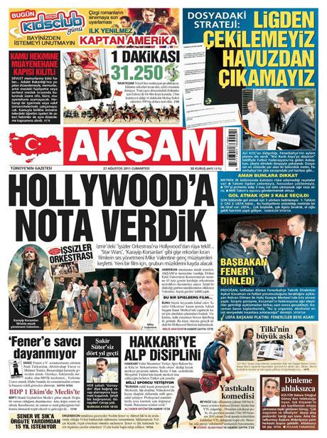 Günün önemli gazete manşetleri (27.08.11) galerisi resim 2