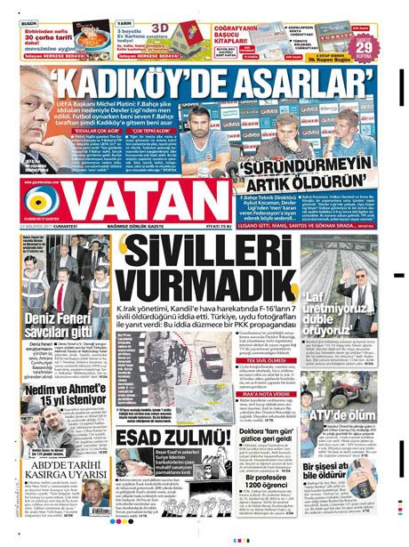 Günün önemli gazete manşetleri (27.08.11) galerisi resim 20
