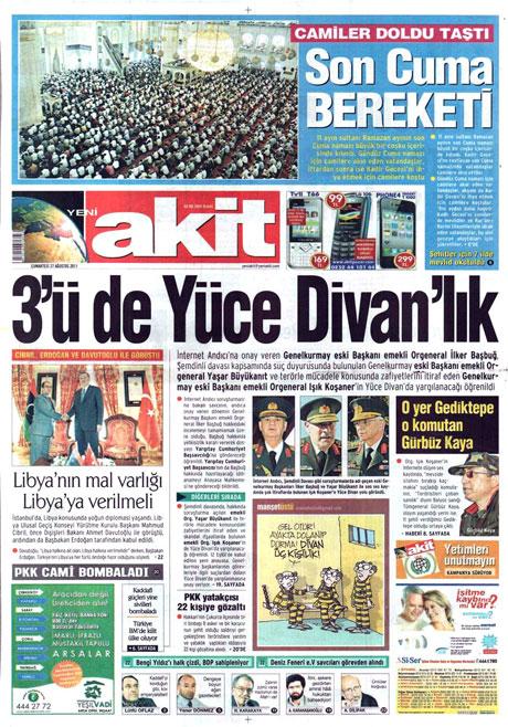 Günün önemli gazete manşetleri (27.08.11) galerisi resim 21