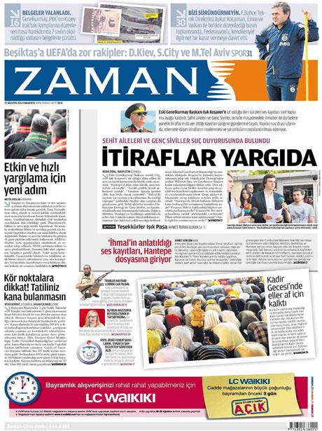 Günün önemli gazete manşetleri (27.08.11) galerisi resim 23