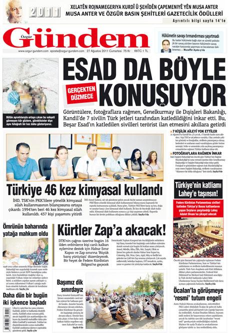 Günün önemli gazete manşetleri (27.08.11) galerisi resim 25