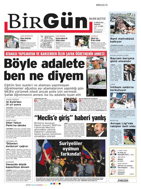 Günün önemli gazete manşetleri (27.08.11) galerisi resim 3