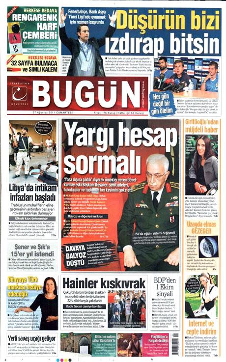 Günün önemli gazete manşetleri (27.08.11) galerisi resim 4
