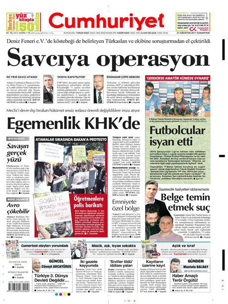 Günün önemli gazete manşetleri (27.08.11) galerisi resim 5