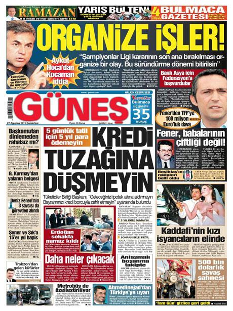 Günün önemli gazete manşetleri (27.08.11) galerisi resim 6