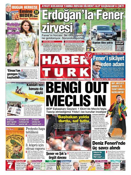 Günün önemli gazete manşetleri (27.08.11) galerisi resim 7
