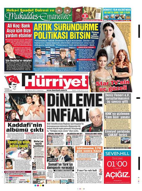 Günün önemli gazete manşetleri (27.08.11) galerisi resim 8