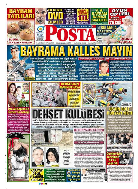 Günün önemli gazete manşetleri (29.08.11) galerisi resim 12