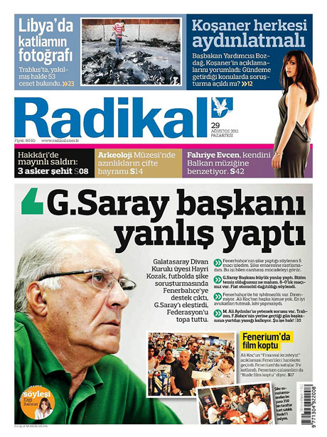 Günün önemli gazete manşetleri (29.08.11) galerisi resim 13