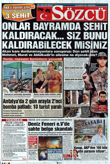 Günün önemli gazete manşetleri (29.08.11) galerisi resim 14