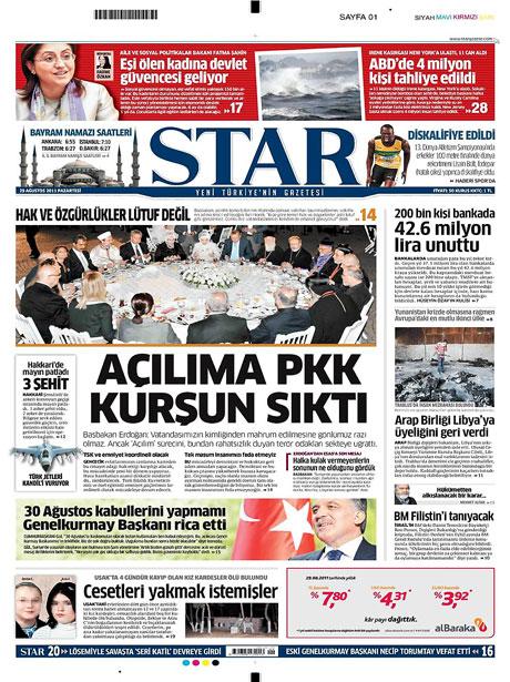 Günün önemli gazete manşetleri (29.08.11) galerisi resim 15