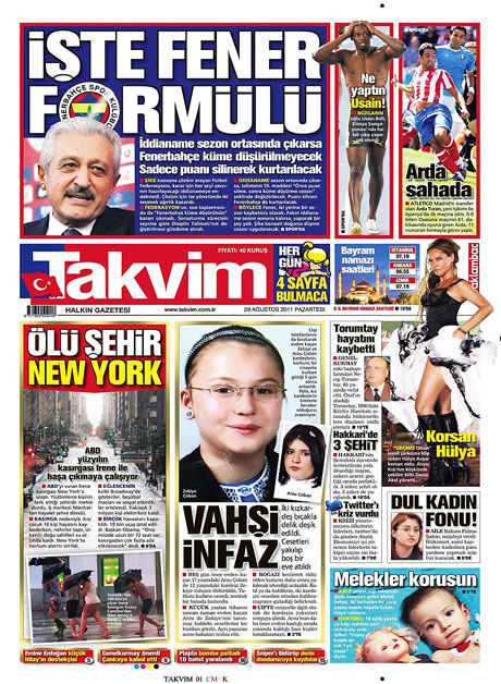 Günün önemli gazete manşetleri (29.08.11) galerisi resim 16