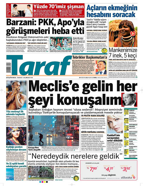 Günün önemli gazete manşetleri (29.08.11) galerisi resim 17