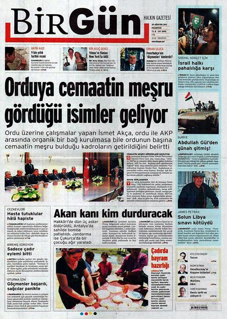 Günün önemli gazete manşetleri (29.08.11) galerisi resim 2