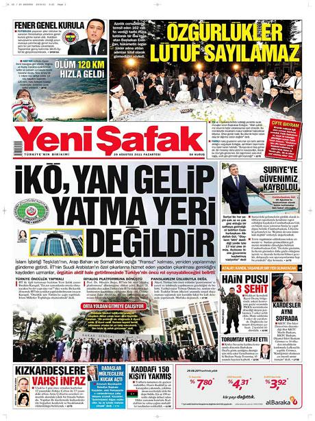 Günün önemli gazete manşetleri (29.08.11) galerisi resim 21