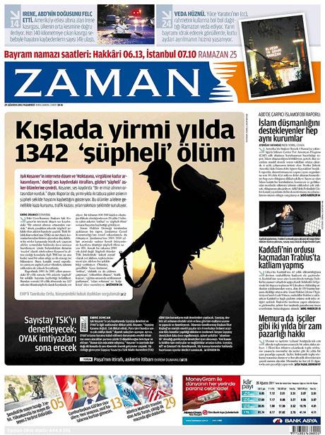 Günün önemli gazete manşetleri (29.08.11) galerisi resim 22