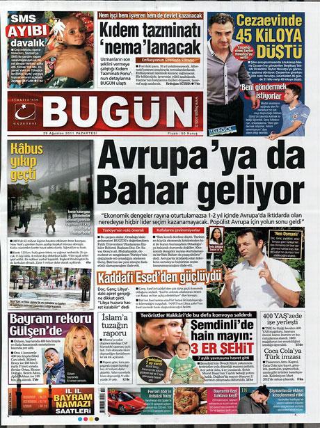Günün önemli gazete manşetleri (29.08.11) galerisi resim 3